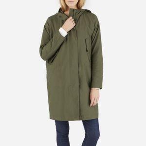 Everlane City Anorak Surplus Hooded Jacket Green
